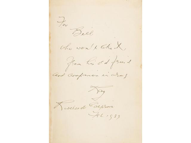 CHANDLER, RAYMOND. 1888-1959.