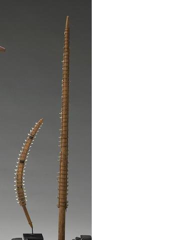 Two Gilbert Islands shark's tooth swords