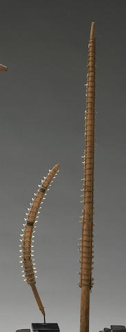 Two Gilbert Islands shark's tooth swords