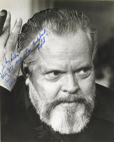 An Orson Welles signed photo