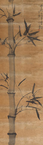 Xu Beihong (1895-1953): Bambnoo, water damage, hanging scroll