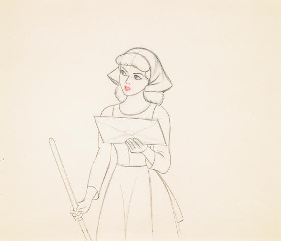 "A Walt Disney drawing from ""Cinderella"""