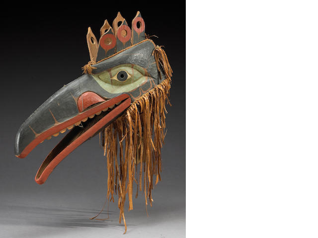 A Northwest Coast Hamatsa raven mask