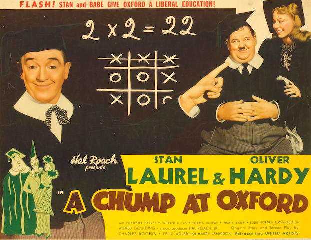 Laurel and Hardy, A Chump at Oxford