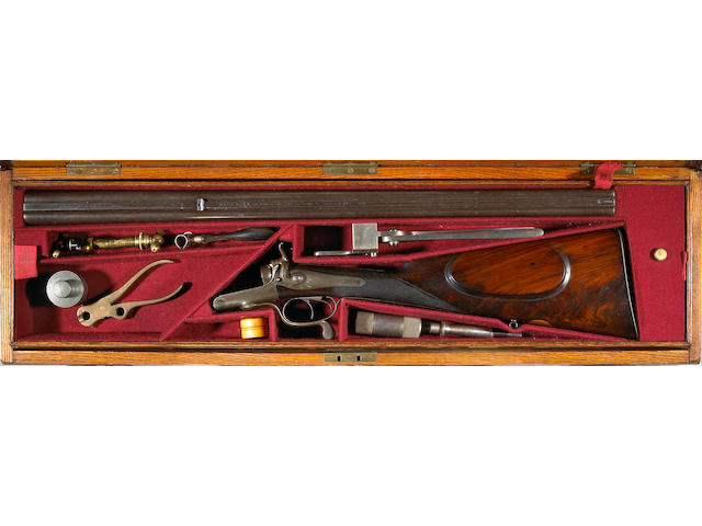 A cased .360 express James Purdey & Sons double rifle gifted to H.H. Nizam of the Deccan by Edward, Prince of Wales