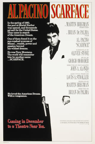 Scarface (two posters), one on vellum
