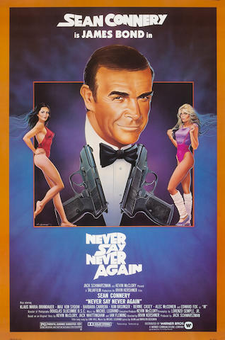 A group of six James Bond one-sheet posters