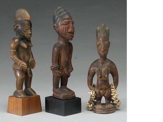 Three West African figures