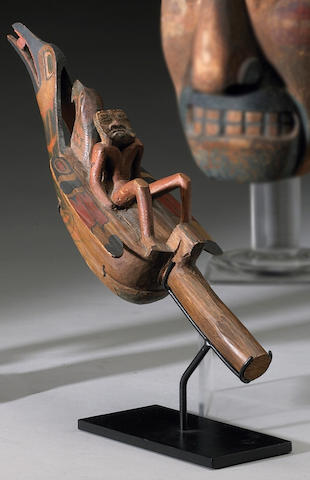A Northwest Coast raven rattle
