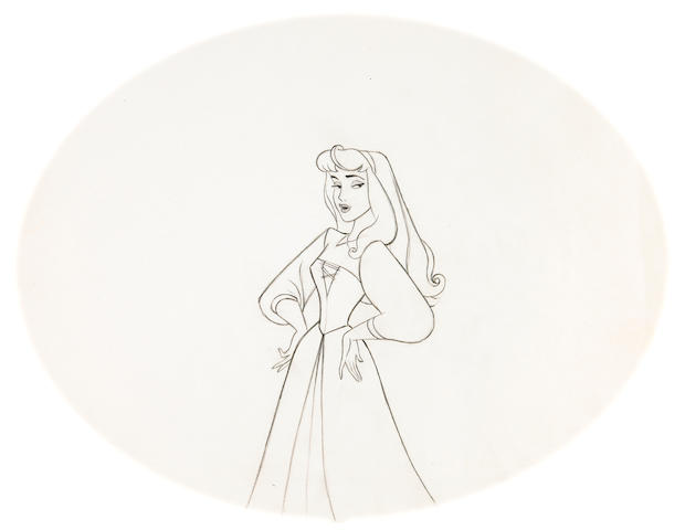 "A Walt Disney drawing from ""Sleeping Beauty"""