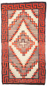 A Navajo rug, 9ft 3in x 5ft 1in