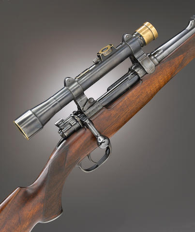 A George Gibbs magazine rifle with telescopic sight in .30/06