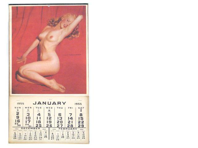 A Marilyn Monroe calendar