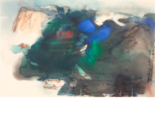 Zhang Daqian (Chang Dai-chien, 1899-1983): an important splashed color landscape