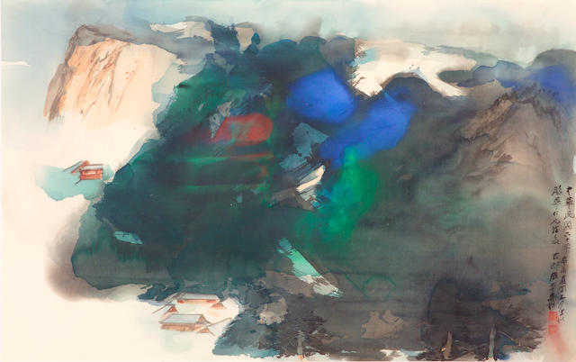 Zhang Daqian (Chang Dai-chien, 1899-1983): an important splashed color landscape