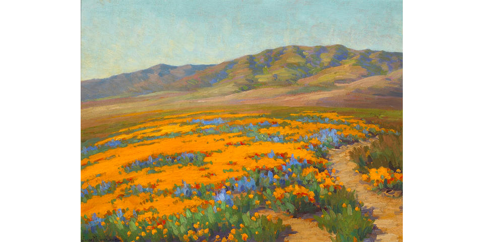 John Marshall Gamble (1863-1957) Spring Flowers, Antelope Valley, 1923 18 x 24in