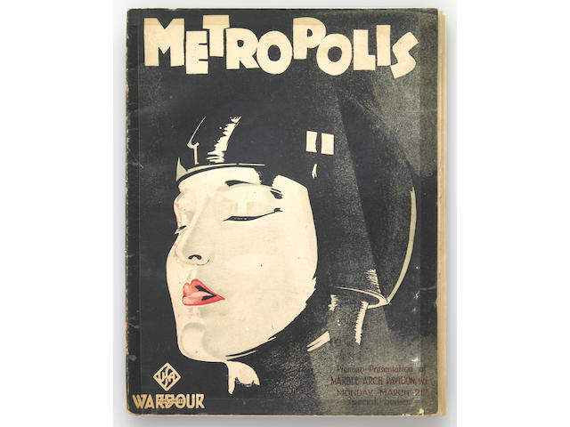 "A program from ""Metropolis"" inscribed by Fritz Lang to Forrest J. Ackerman"