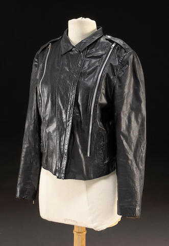 A Madonna signed, owned and worn leather jacket