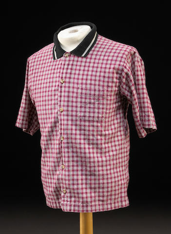 An Elvis Presley signed leisure shirt