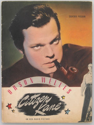 "A program from ""Citizen Kane"""