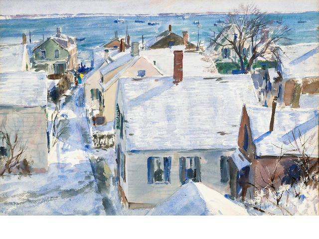John Whorf (1903-1959)  Winter Morning (No. 9) 22 x 28in