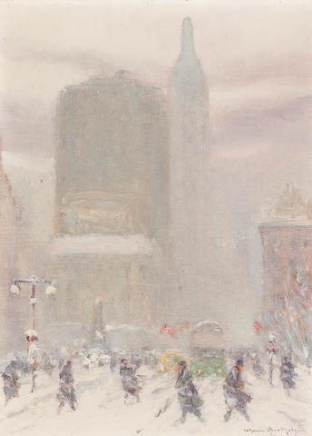 Johann Berthelsen, Fifth and 23rd Street, oil on board