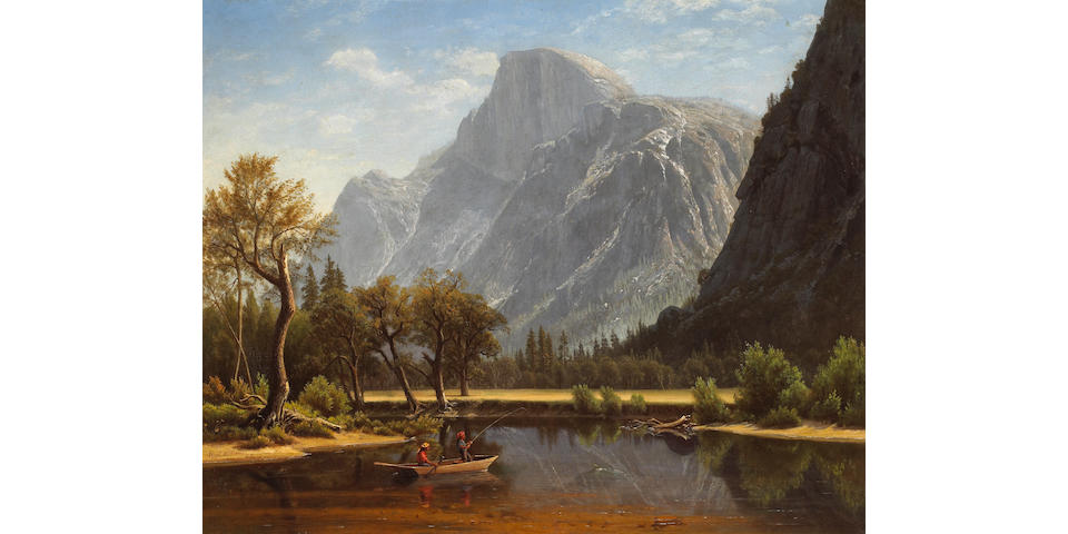 Virgil Williams (1830-1886) Fishing Near Half Dome, 1863 29 x 36in