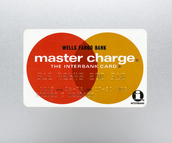 A Wells Fargo Bank Master Charge credit card 2½ x 3½in