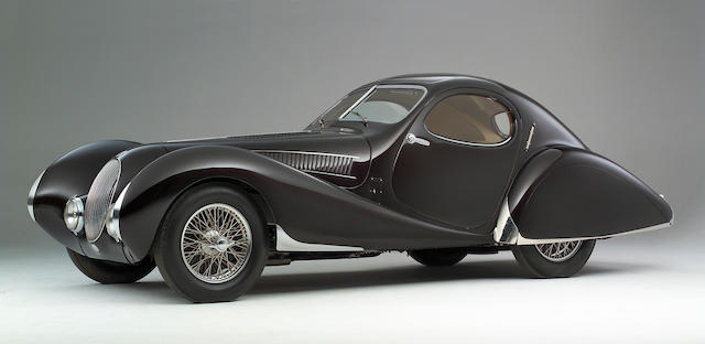 The ex-Rob Walker, Countess of Strafford,1938 Talbot-Lago 'Special' 150 SS Goutte d'Eau Coupe  Chassis no. 90109