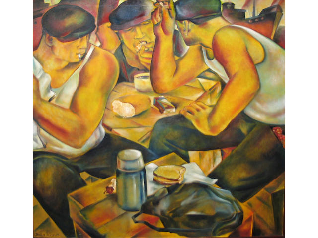Jessica Rice (American 20th century) Lunch Time, 1983 48 x 48in