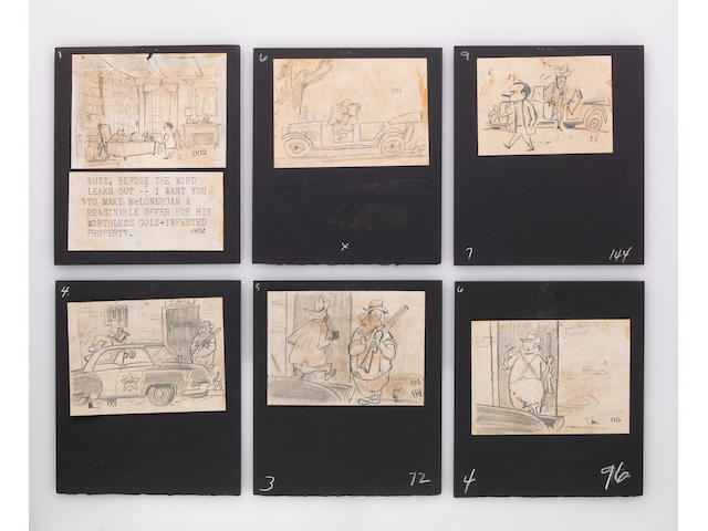 "Original Storyboards for Animation Version of ""Finian's Rainbow"""