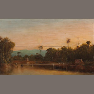 Norton Bush (1834-1894) Sunset in the Tropics, 1879 12 x 20in