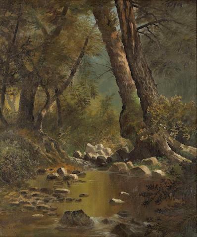 Edwin Deakin (1838-1923) Berkeley Creek, 1876 18 x 15in