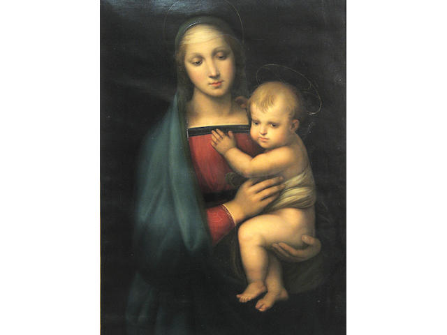 After Raphael Madonna del Granduca 33 1/2 x 22 1/2in