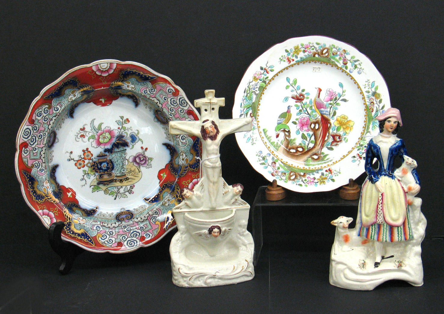 A group of English Victorian ceramics
