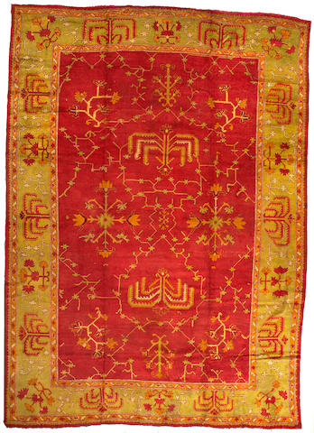 An Oushak carpet West Anatolia size approximately 12ft 4in x 17ft 4in