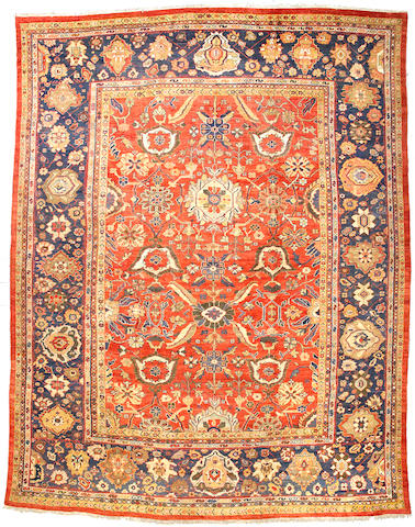 A Mahal carpet Central Persia size approximately 16ft 3in x 12ft 7in