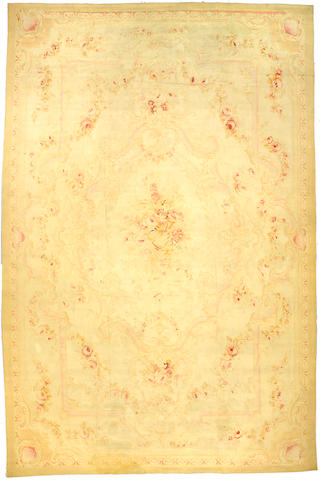 An Aubusson Carpet size approximately 11ft 3in x 17ft 2in