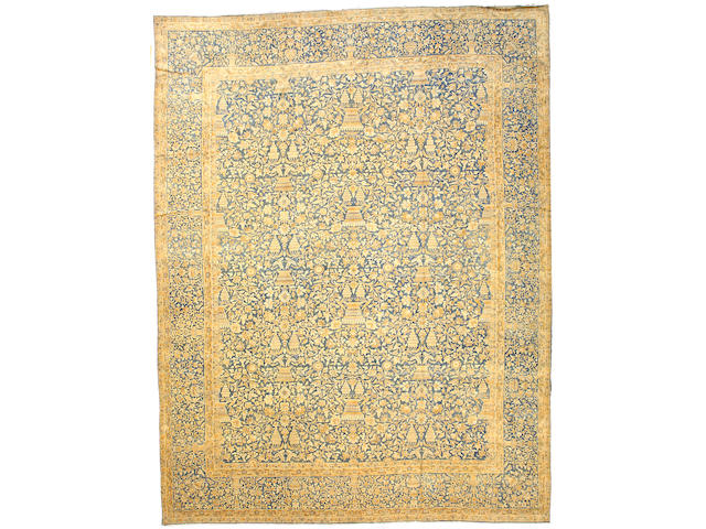 A Kerman carpet South Central Persia size approximately 16ft 4in x 12ft 4in