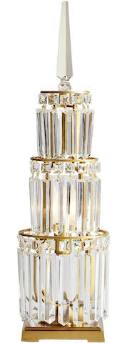 A pair of Kohler crystal lamps from the 78th Annual Academy Awards
