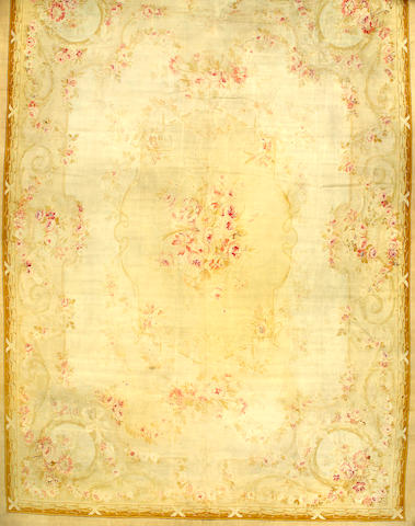 An Aubusson carpet France size approximately 14ft 8in x 20ft 8in