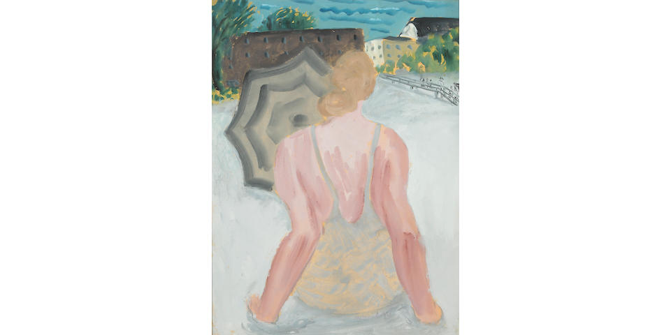 Milton Avery (1885-1965) Swimmer Sunning, 1936 24 x 18in