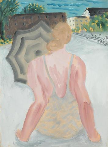 Milton Avery (1885-1965) Swimmer Sunning, 1936 24 x 18in