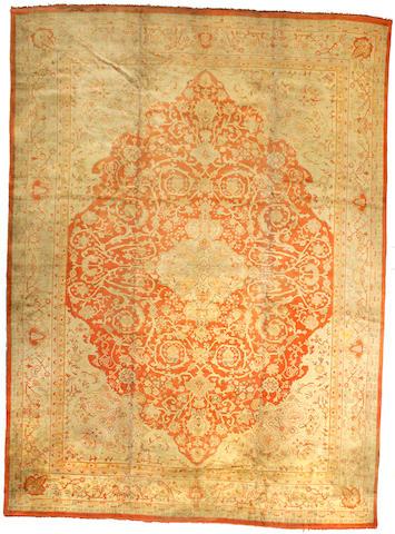 An Oushak carpet West Anatolia size approximately 12ft 2in x 17ft