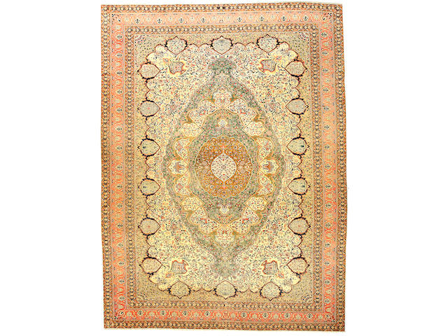 A Mohtashan Kashan carpet Central Persia size approximately 10ft 7in x 14ft 3in