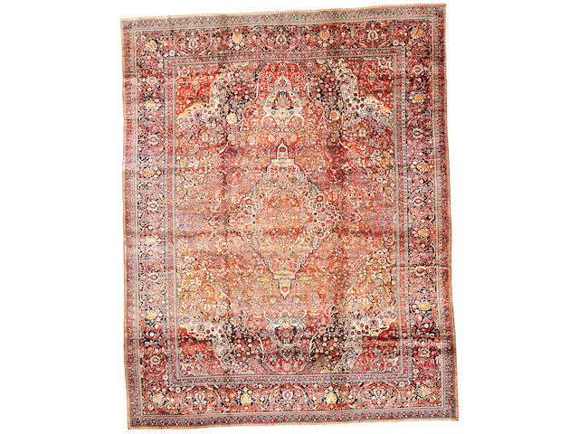 A Mohtasham Kashan carpet Central Persia size approximately 12ft x 15ft 4in