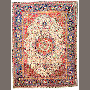 A Tabriz carpet Northwest Persia size approximately 12ft x 10ft 3in