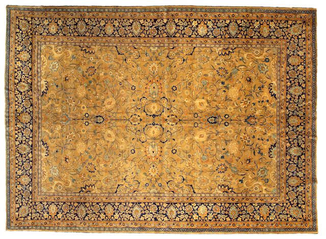 A Tabriz carpet Northwest Persia size approximately 9ft x 12ft 6in
