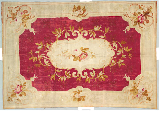 An Aubusson carpet size approximately 6ft 3in x 9ft