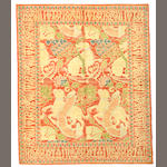 A Spanish pictorial rug size approximately 5ft 8in x 6ft 10in
